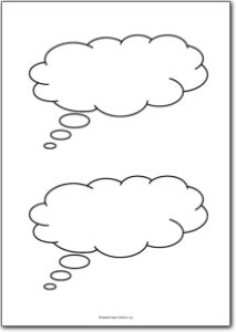 photograph regarding Speech Bubble Printable identify 2 Blank thing to consider bubbles Absolutely free Printables, totally free printable