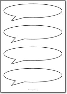 4 Blank speech bubbles