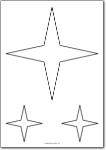 4 Pointed star shape