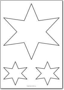 6 Pointed star shape