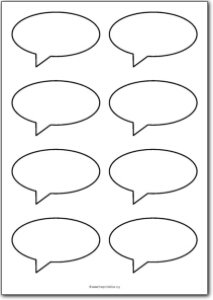 8 Blank speech bubbles