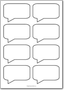 8 Blank square speech bubbles