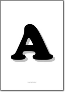 Large alphabet letters free printables free printable shape templates large alphabet letters spiritdancerdesigns Images